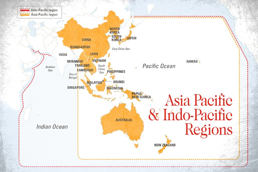 Map Of China And Usa.The Shifting Balance Of Power In The Indo Pacific China Us Focus